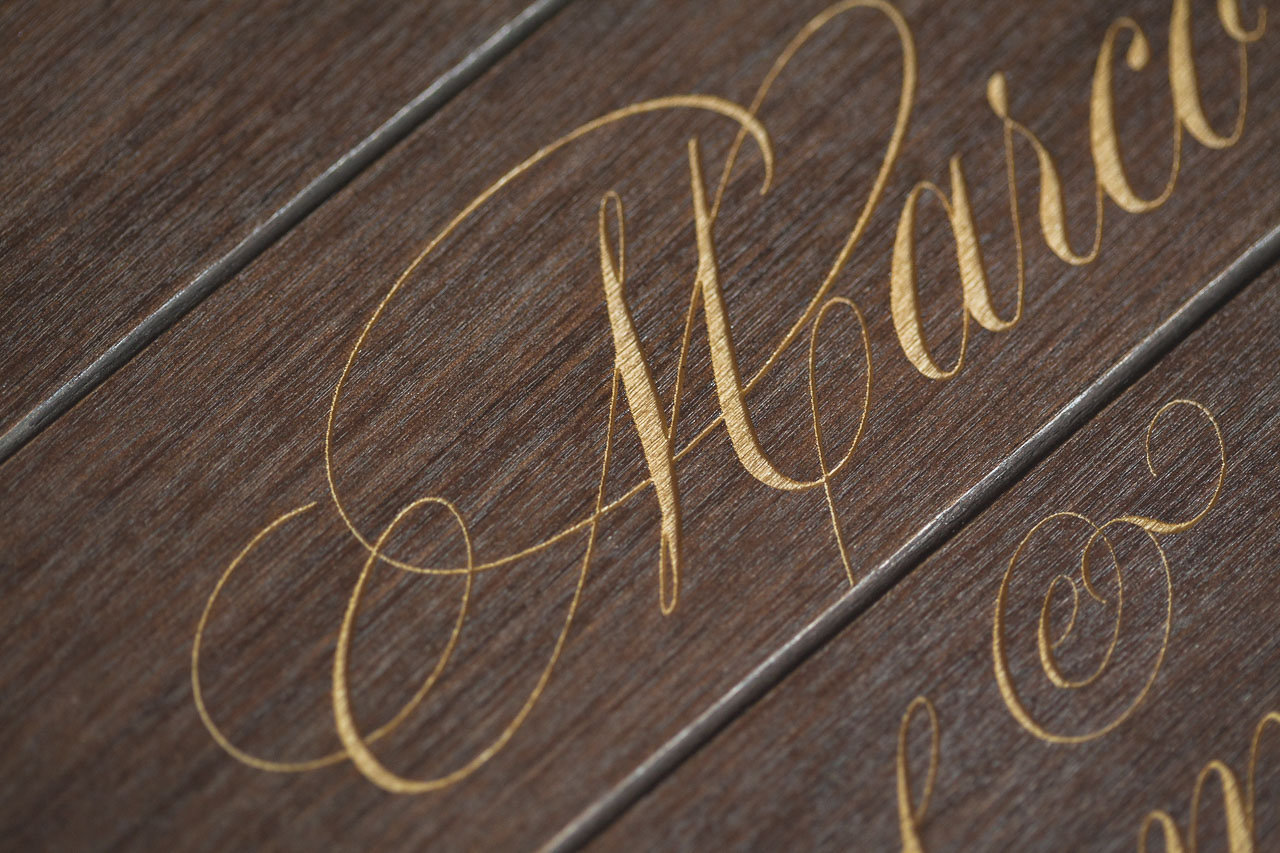 incisione legno foto album